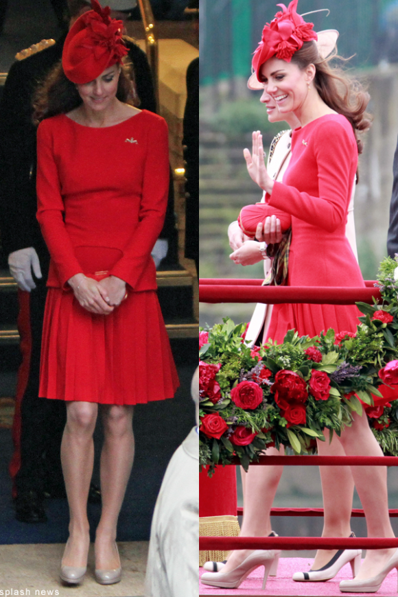 Kate Middleton's red hat worn to the river pageant in 2012