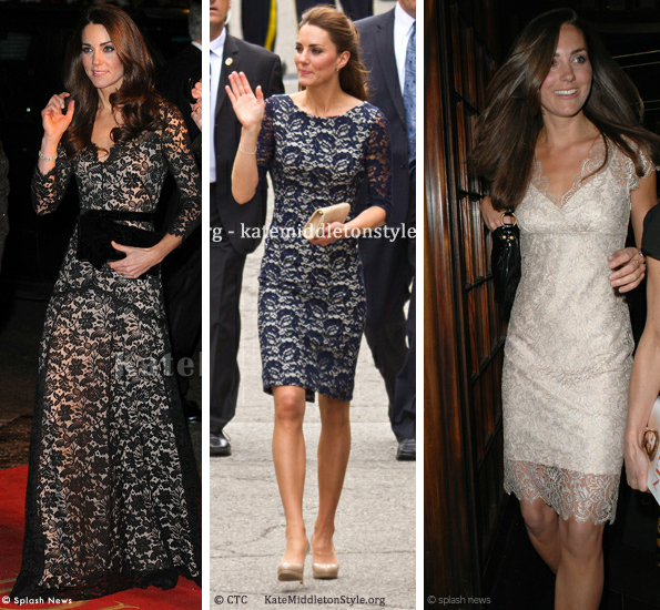 kate middleton lace dresses