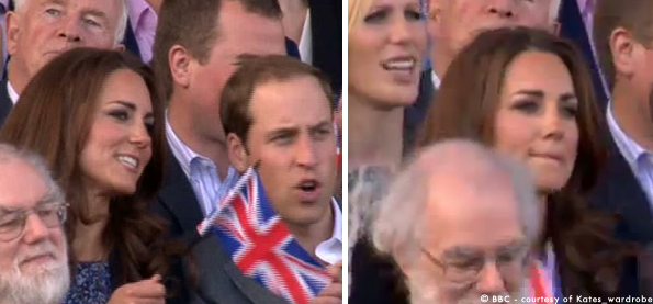 Kate attends the Queen's Jubilee Concert at Buckingham Palace