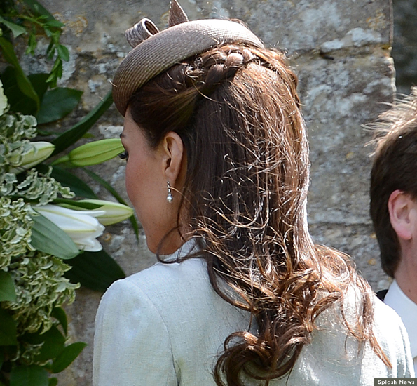 kates hair at the wedding today