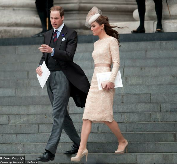Kate and William after the Jubilee Service