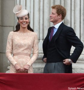 The Queen's Diamond Jubilee Ceremonial Day in London, UK. Pictured: Catherine Duchess of Cambridge and Prince Harry