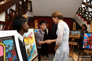 Duchess of Kate at Jubilee Tea PArty in Malaysia