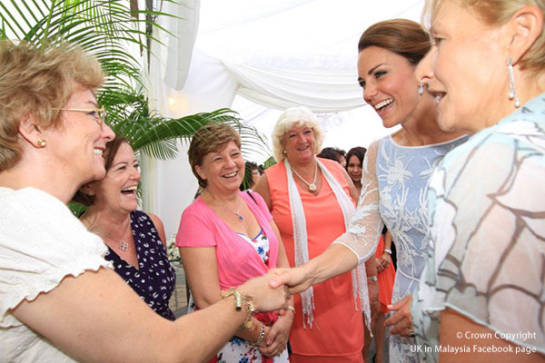 Kate wears Temperley London for Diamond Jubilee tea party in Malaysia