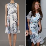 Day Two:  Kate wears favourite Erdem for reception at Eden Hall, Singapore