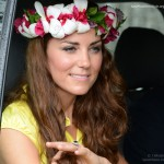 kate's floral headpiece