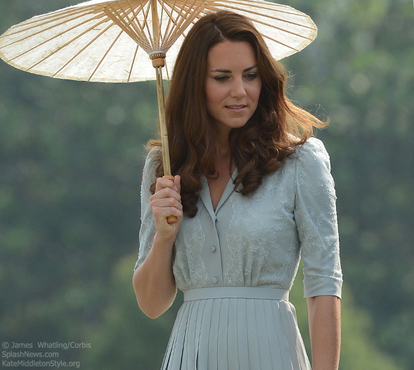 kate wearing jenny packham
