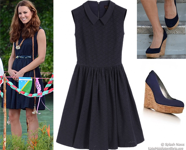 kate marau blue Mulberry dress