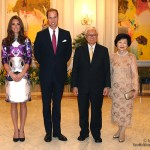 Kate Middleton attends state dinner in Singpore