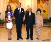 Kate Middleton attends state dinner in Singapore