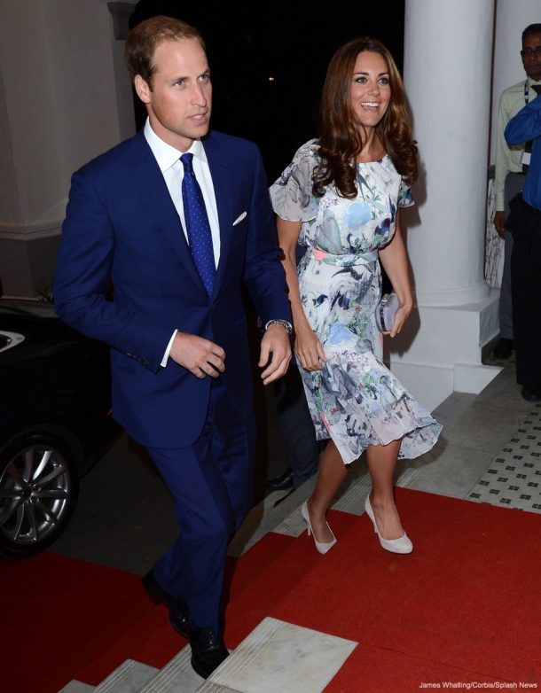Kate MIddleton wearing Erdem at a Reception in Singapore during the 2012 Diamond Jubilee Tour