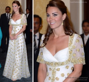 Day Three: Kate stuns in Alexander McQueen gown at official dinner held by His Majesty The Agong at Istana Negara