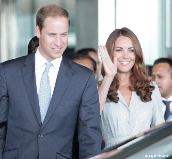 kate middleton arrives in malaysia