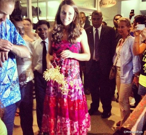 Kate Middleton Pink Dress in Solomon Islands 8adab1389