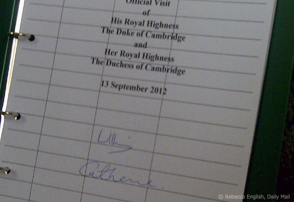 kate middleton signature