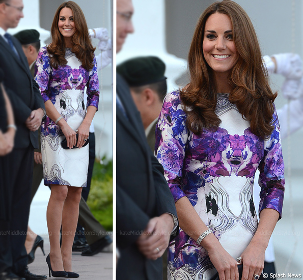 Kate wears a dress by local Singaporean Prabal Gurung at State Dinner
