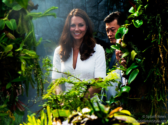 The Duke and Duchess of Cambridge visit Rain Mountain in the Gardens by the Bay, Singapore, on the second day of their Diamond Jubilee Tour of South East Asia