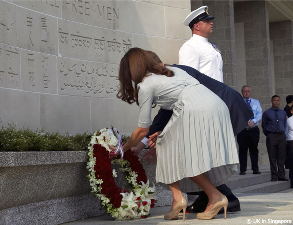 Kate and William laid a wreath on behalf of The Queen and Prince Philip