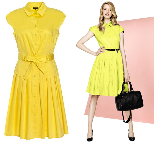 yellow jaeger dress