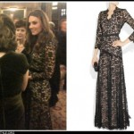 kate's black lace temperley dress