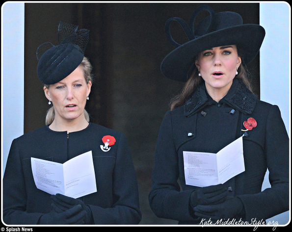Kate joins Royal Family for Remembrance Sunday, repeats DVF coat & Philip Traecy hat
