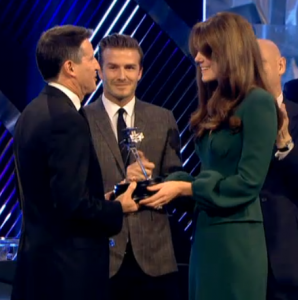 Kate presents two awards at BBC Sports Personality of the Year
