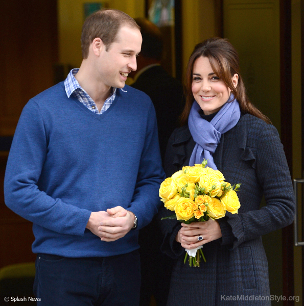 Pregnant Kate leaves hospital
