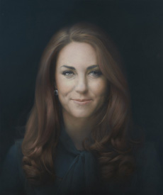 The National Portrait Gallery release picture of Kate painting