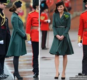 Kate re-wears Emilia Wickstead coat dress for Irish Guard parade
