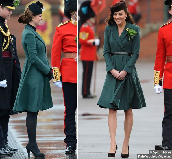 Kate re-wears Emilia Wickstead coat dress for Irish Guard parade