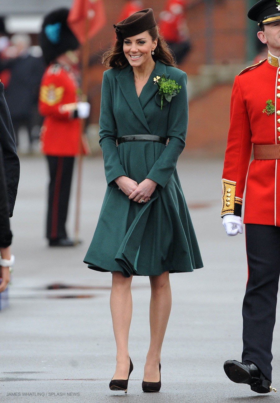 Kate Middleton visiting the Irish Guard in 2012