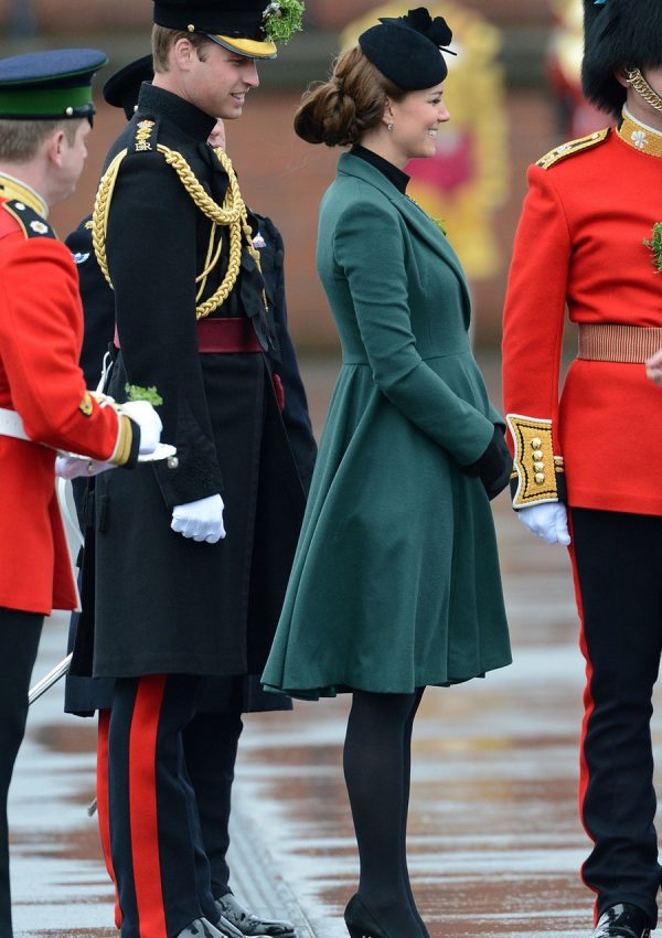 Kate Middleton meets the Irish Guards to celebrate St. Patricks Day in 2013