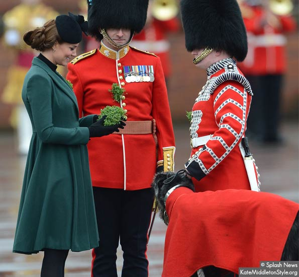 kate middleton presents Shamrock to irish wolfhound