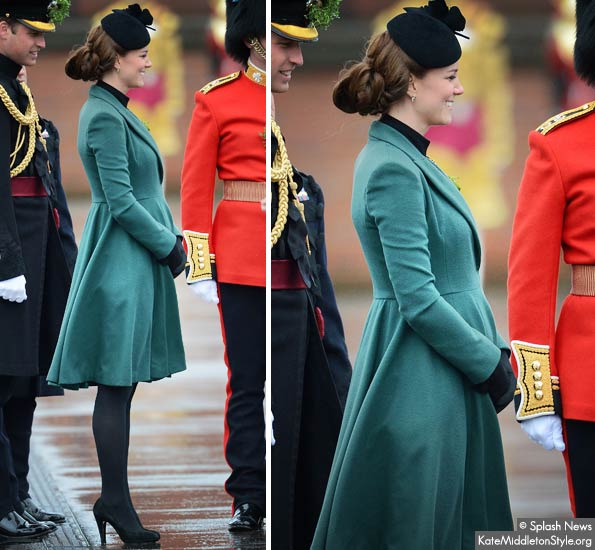 kate middleton pregnant - you can see her baby bump