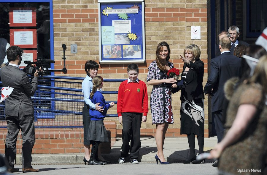 Kate Middleton launching M-PACT plus at Manchester school in 2013