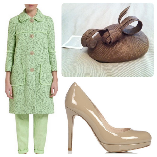 Kate mint Mulberry coat & accessories