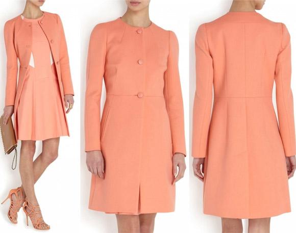 Kate's coral coat