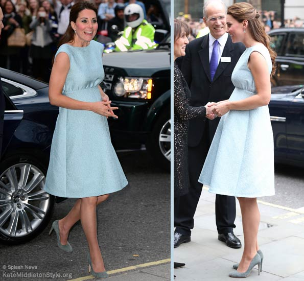kate middleton wears blue dress to Art Room reception at NPG