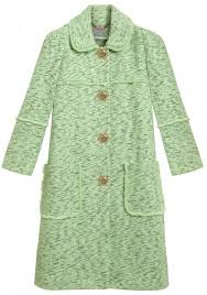 Mulberry frayed coat in green