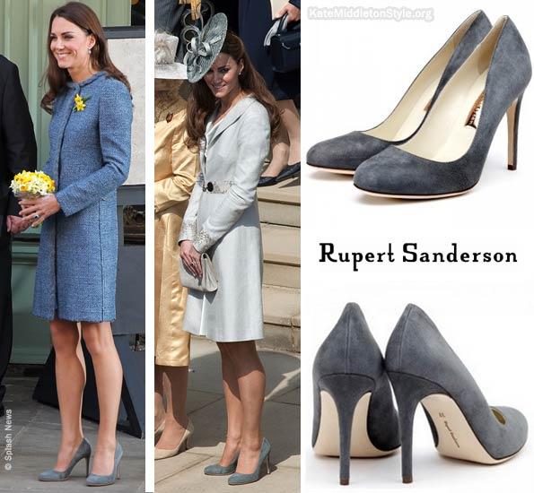 Grey suede Rupert Sanderson Malone heels