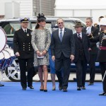Kate arrives at the naming ceremony