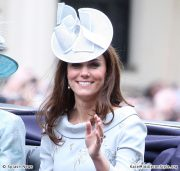 Kate wears Erdem to Trooping the Colour 2012