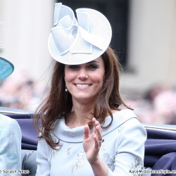 Kate wears blue Erdem dress for Trooping the Colour ceremony