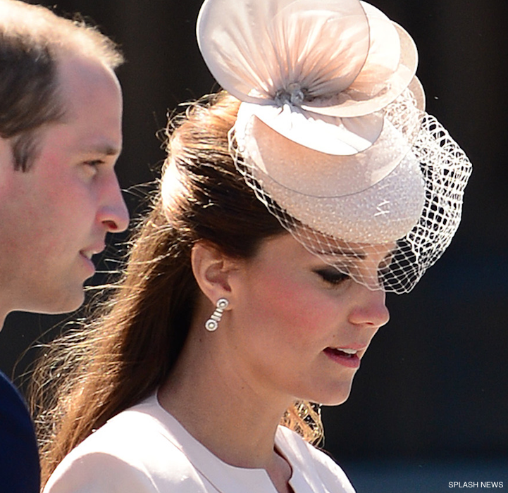 Kate Middleton's hat and earrings