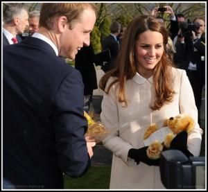 Kate is in labour