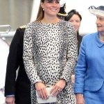 Kate looked fantastic in this Hobbs printed coat