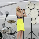 Natasha Bedingfield sings 'unwritten' for the ceremony today.