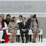 Kate sits with other guests at the naming ceremony