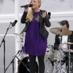 Kerry Ellis sings at the ceremony