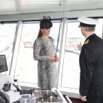 Kate gets a tour of the new ship